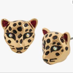Betsey Johnson Leopard Stud Earrings NWT